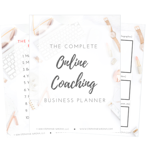 Online Coaching Business Planner