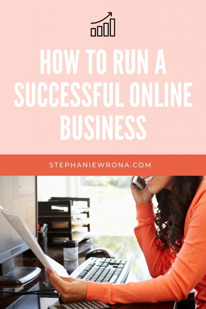 Pinterest Pin for article on How to run a successful online business